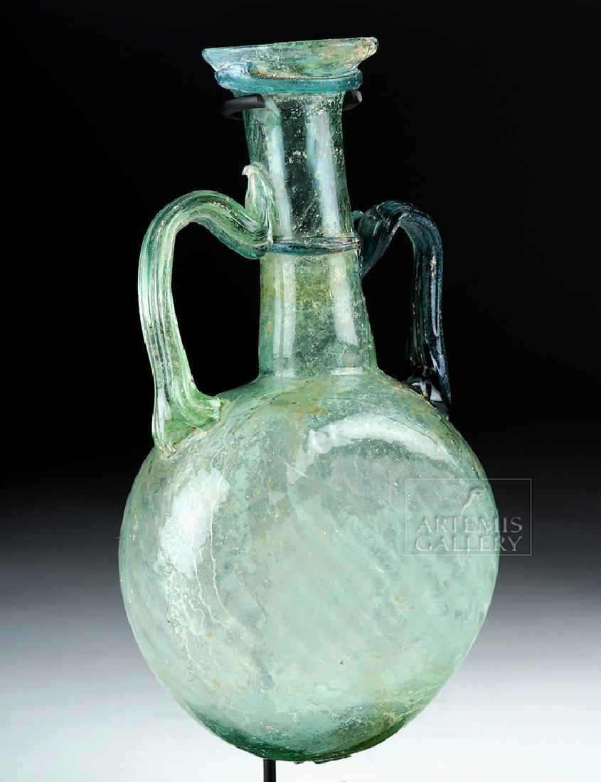 Near-Choice Roman Glass Pilgrim's Flask - 3