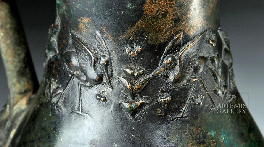 Rare and Wonderful Roman Bronze Ewer - 2