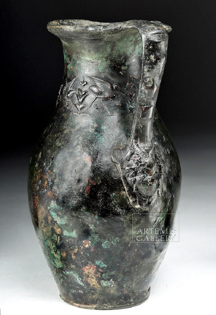 Rare and Wonderful Roman Bronze Ewer - 3