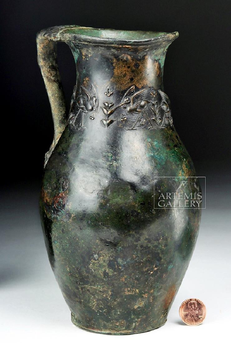 Rare and Wonderful Roman Bronze Ewer - 5