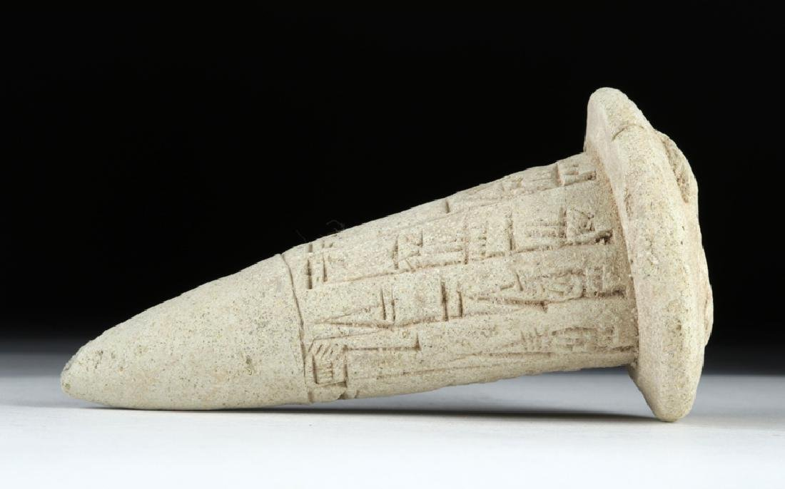 Sumerian Cuneiform Foundation Cone, ex-Bonhams