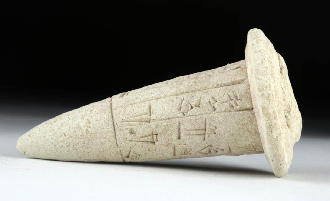 Sumerian Cuneiform Foundation Cone, ex-Bonhams - 3