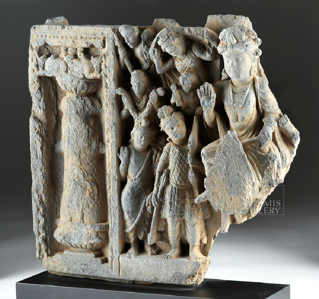 2nd C. Gandharan Schist Frieze - The Great Departure