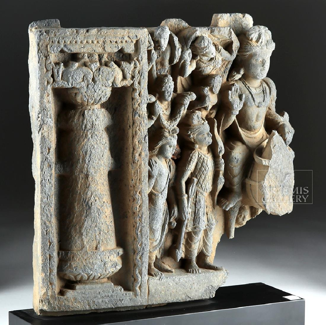2nd C. Gandharan Schist Frieze - The Great Departure - 3