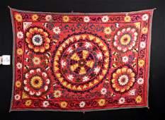 Early 20th C. Central Uzbek Suzani Textile
