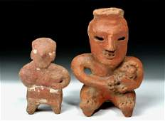 Pair of Pre-Columbian Pottery Figures