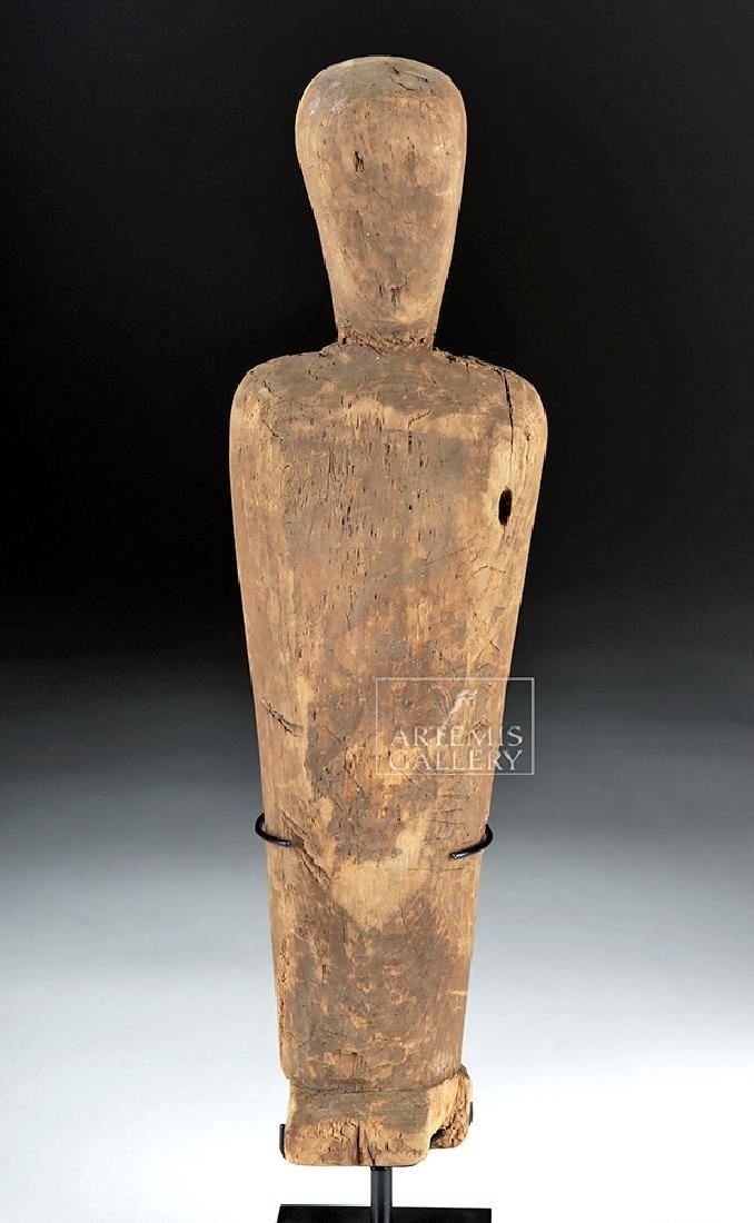 Rare Prehistoric Alaskan Thule Wood Effigy Doll