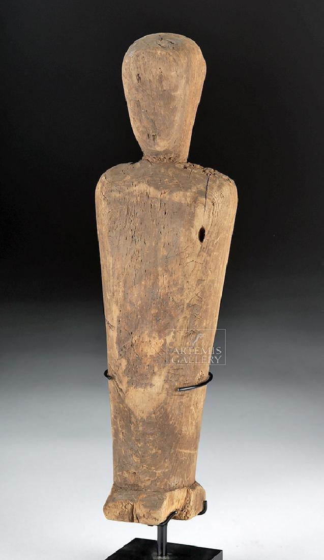 Rare Prehistoric Alaskan Thule Wood Effigy Doll - 3