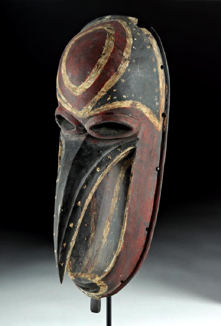 Mid-20th C. Papua New Guinea Wooden Dance Mask