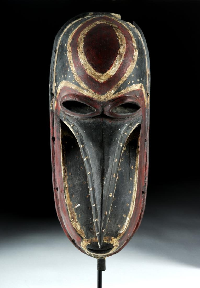 Mid-20th C. Papua New Guinea Wooden Dance Mask - 2