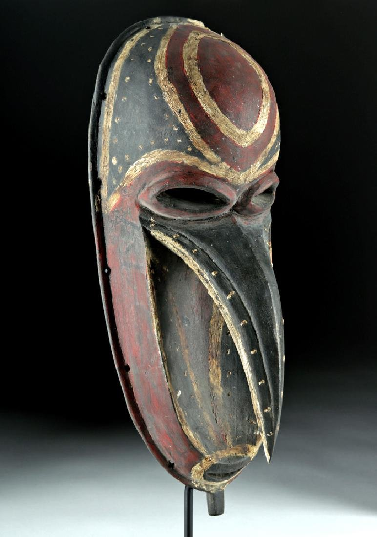 Mid-20th C. Papua New Guinea Wooden Dance Mask - 3