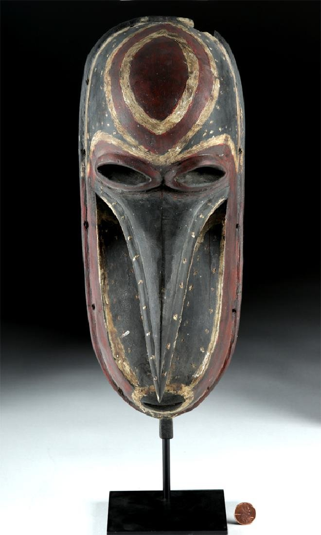 Mid-20th C. Papua New Guinea Wooden Dance Mask - 6