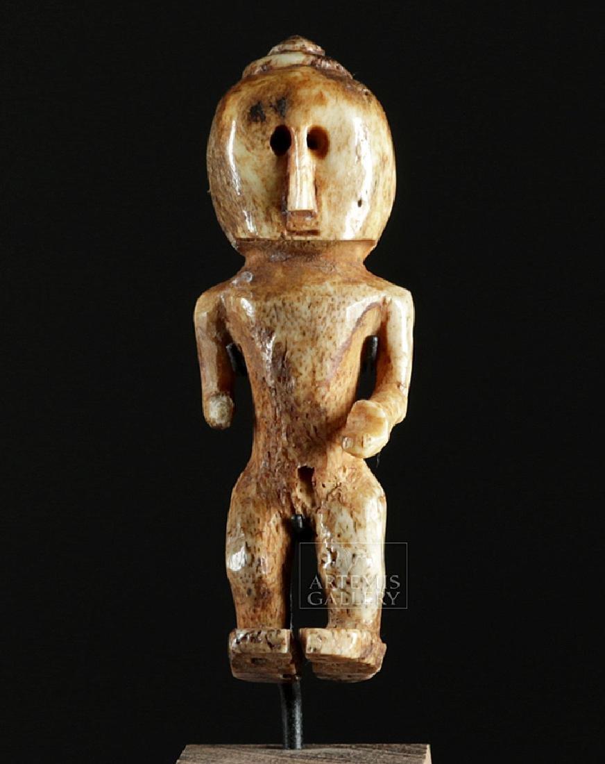 Ancient Alaskan Bone Anthropomorphic Figure