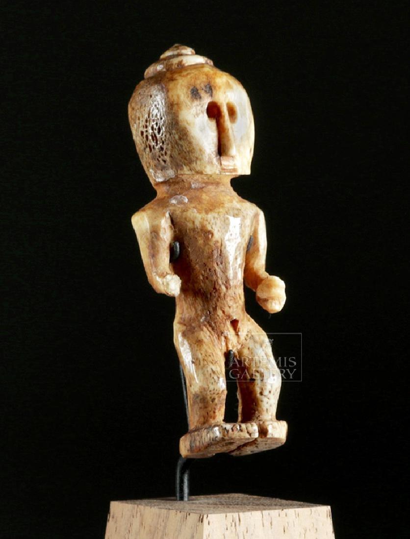 Ancient Alaskan Bone Anthropomorphic Figure - 3