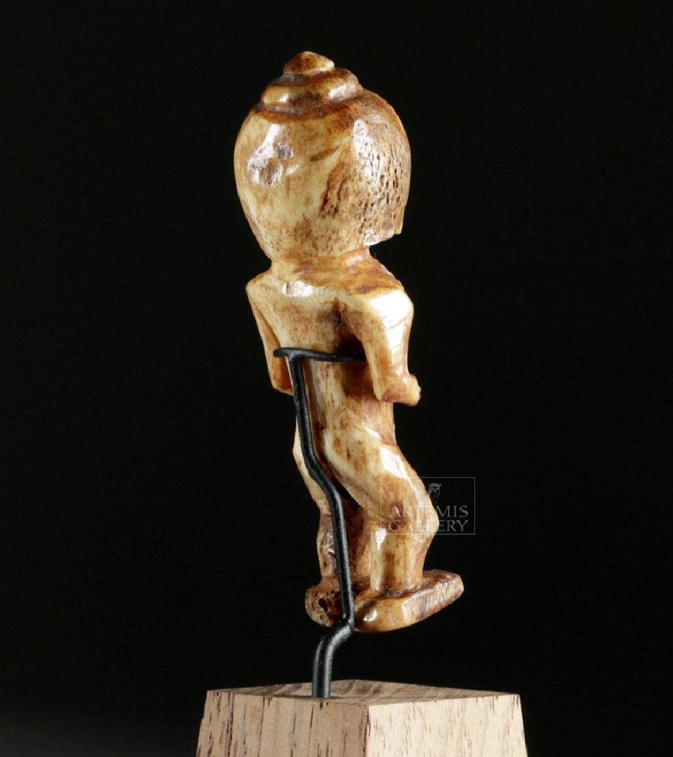Ancient Alaskan Bone Anthropomorphic Figure - 4