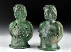 Roman Bronze Chariot Fittings pr