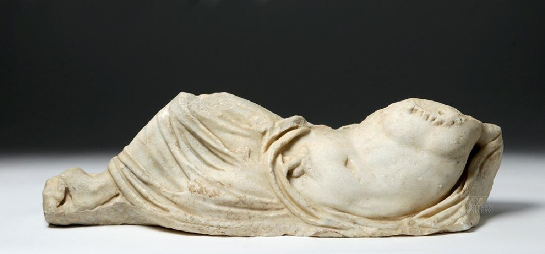 Large Roman Marble Sculpture Reclining Male - River God