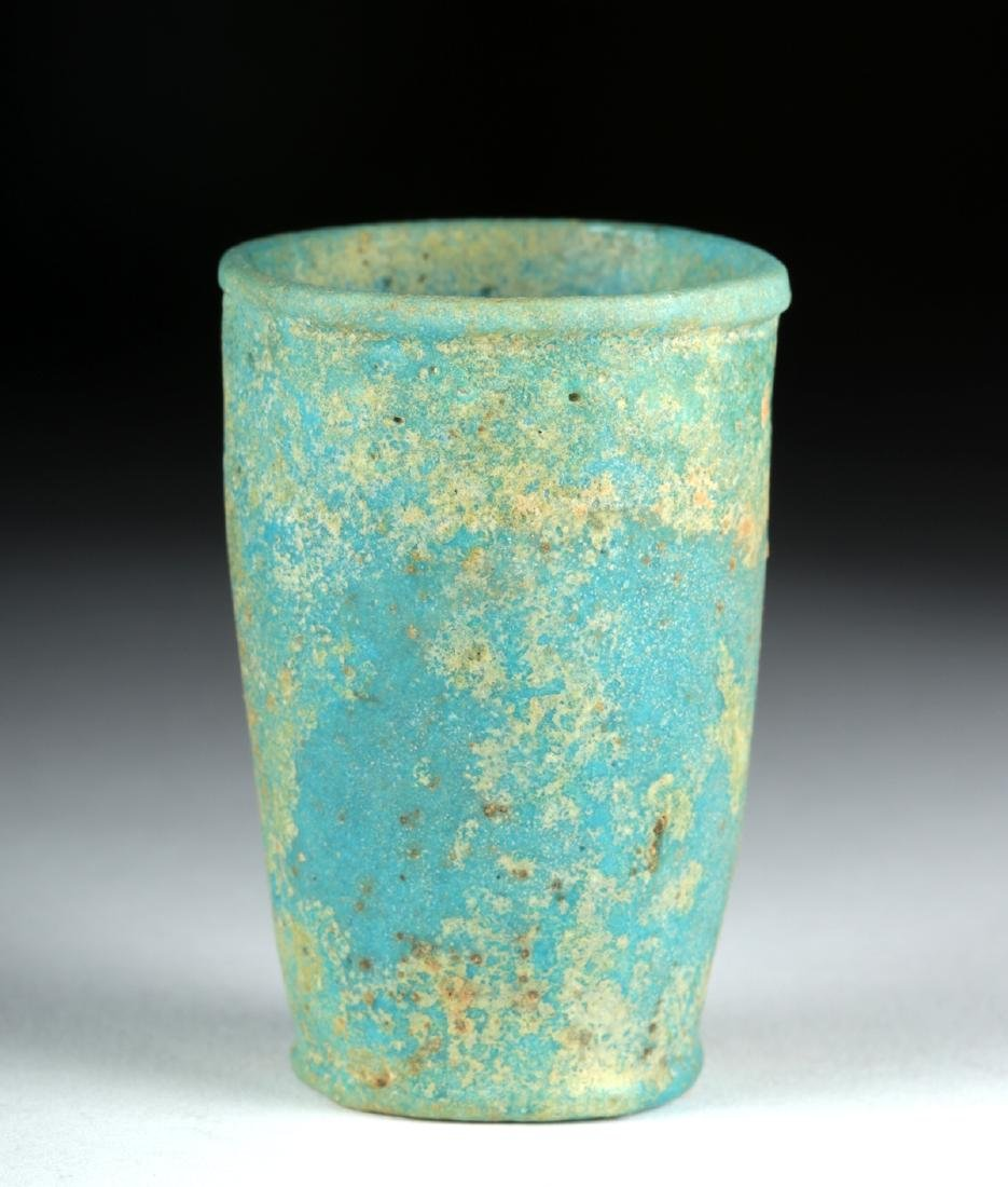 Egyptian Faience Offering Cup w/ Cartouche of Ramses II - 3