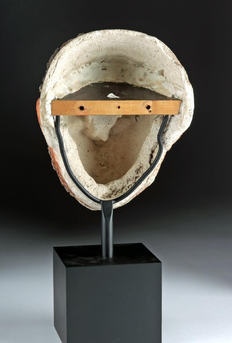 Romano-Egyptian Stucco Head of a Man w/ Glass Eyes - 4