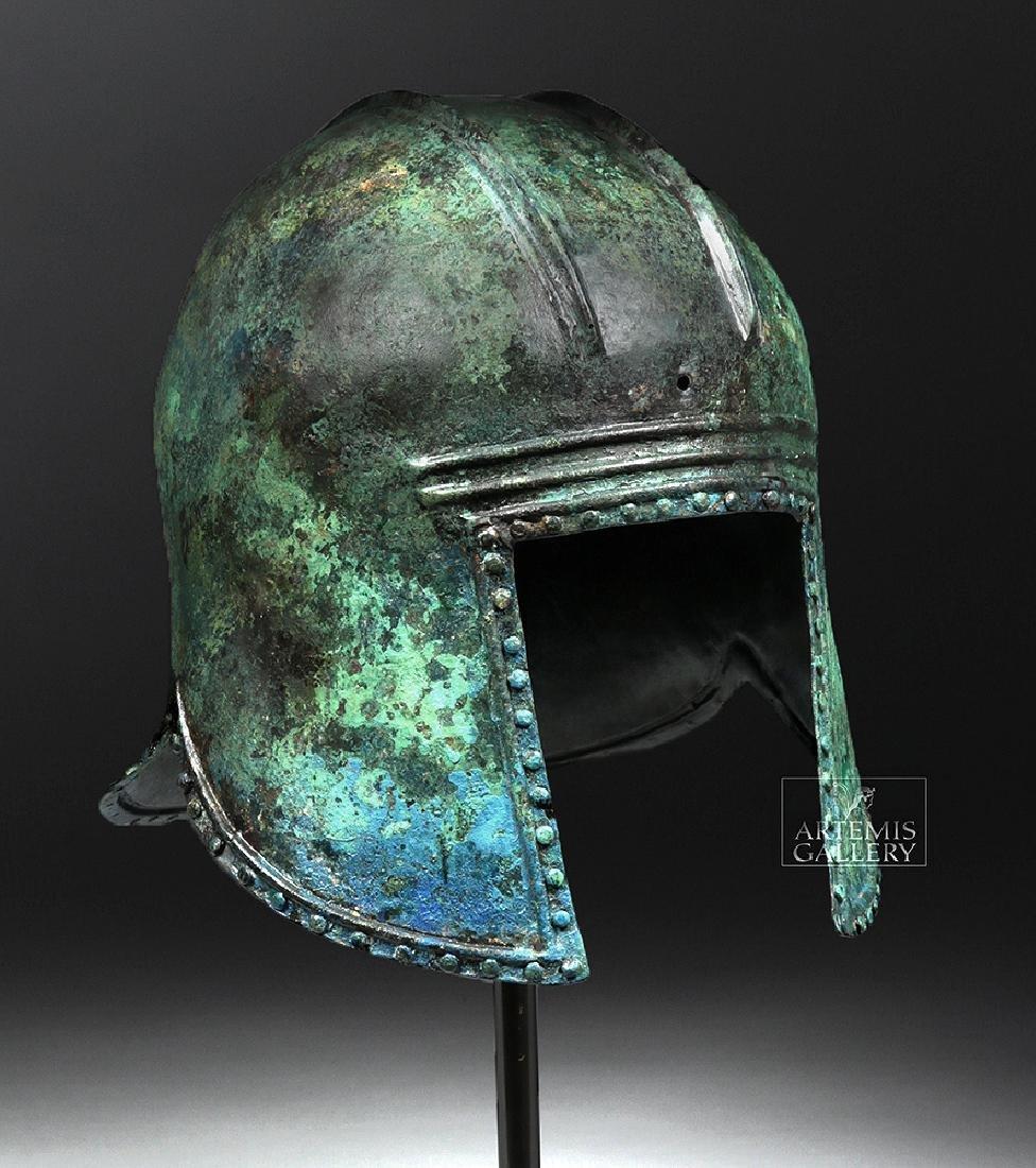 Greek Illyrian Bronze Hoplite Helmet w/ Art Loss Cert.