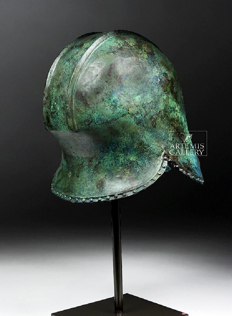 Greek Illyrian Bronze Hoplite Helmet w/ Art Loss Cert. - 5