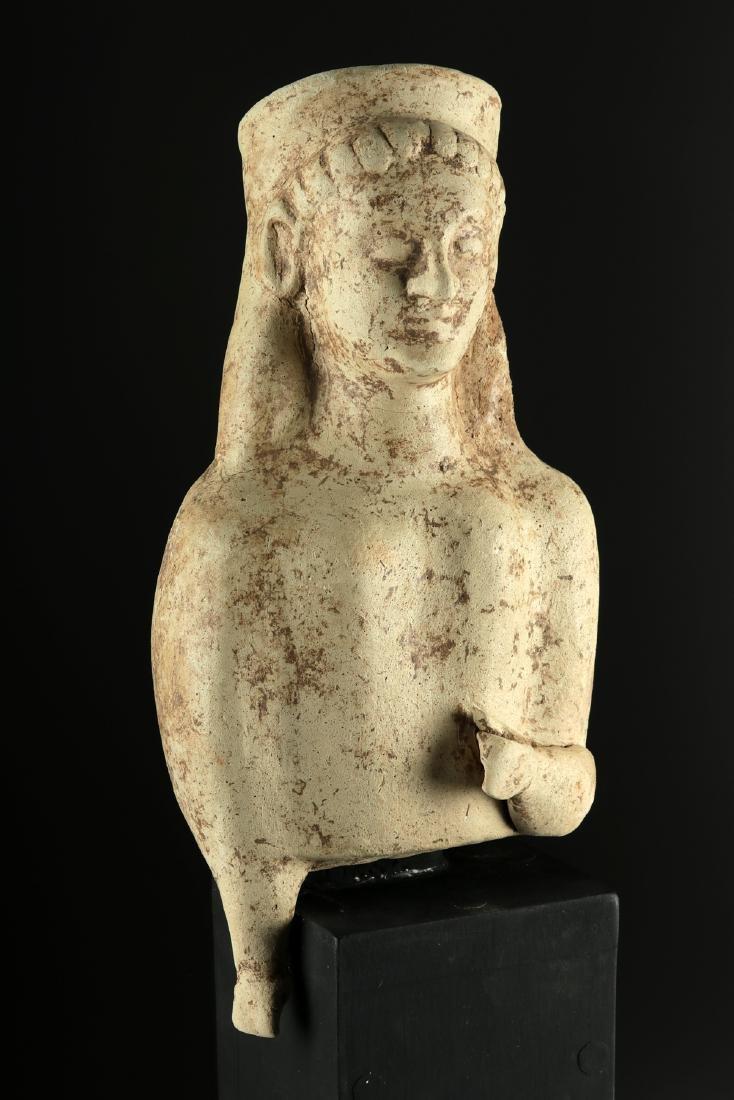 Large Archaic Greek Terracotta Votive Figure - 2