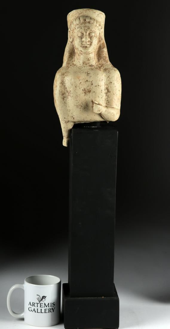 Large Archaic Greek Terracotta Votive Figure - 6