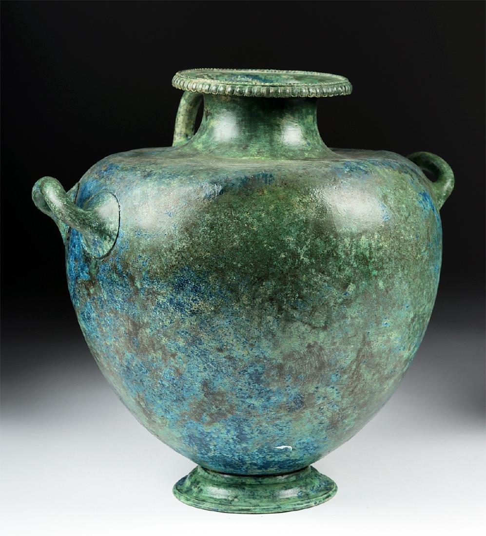 Important Greek Bronze Hydria - 3