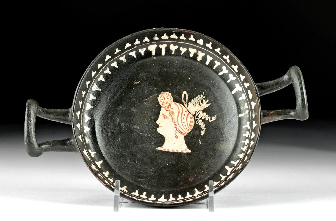 Rare Greek Gnathian Kylix - Beautiful Lady - 6
