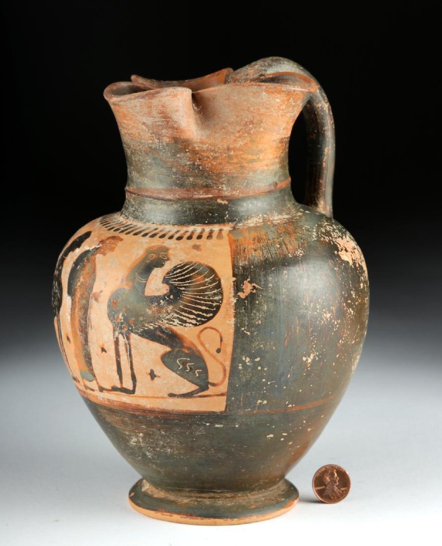 Greek Attic Black-Figure Trefoil Oinochoe - Sphinx - 2
