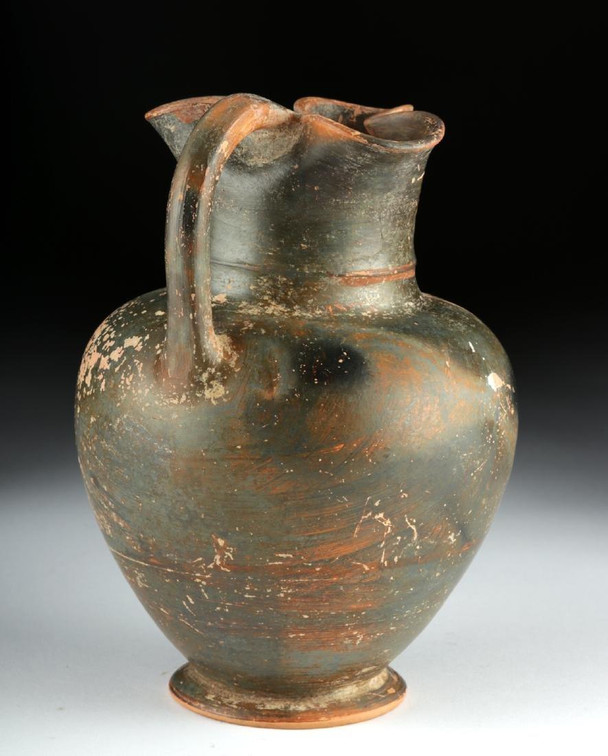 Greek Attic Black-Figure Trefoil Oinochoe - Sphinx - 3