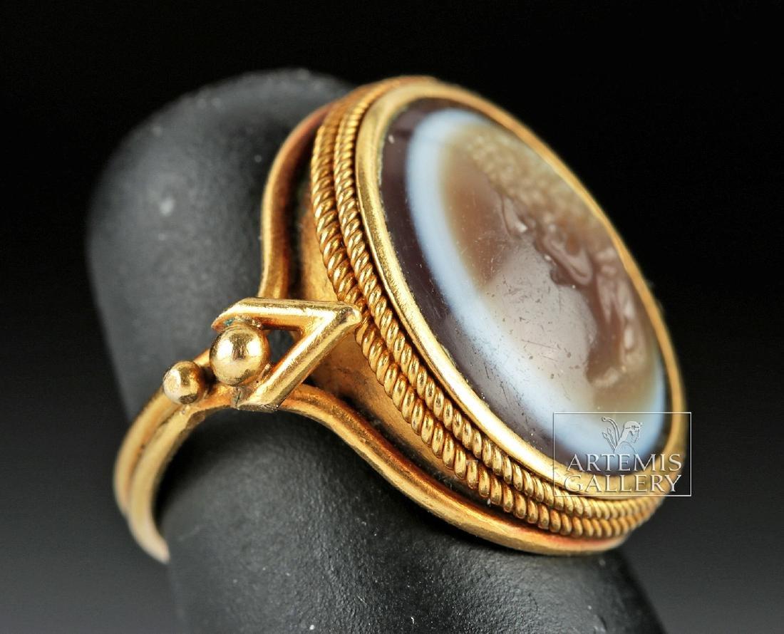 Roman Eye Agate Intagio & 18K Gold Ring - Ex Christie's - 3