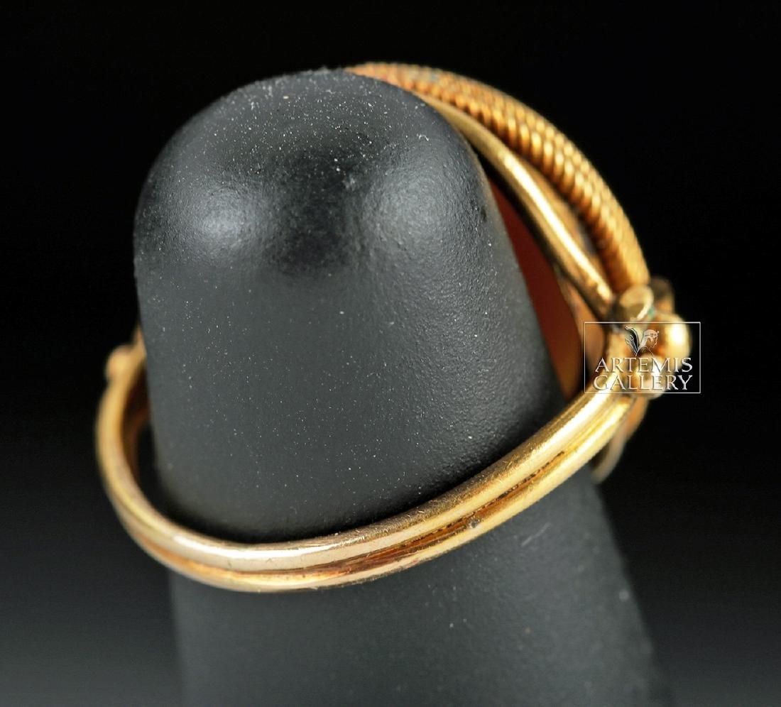 Roman Eye Agate Intagio & 18K Gold Ring - Ex Christie's - 4