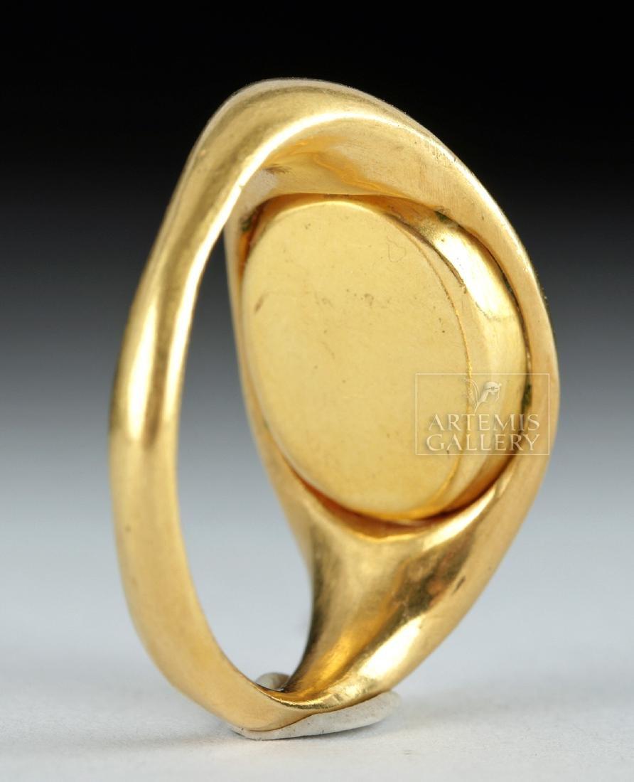 22K Gold Ring w/ Roman Carnelian Intaglio ex-Christie's - 3