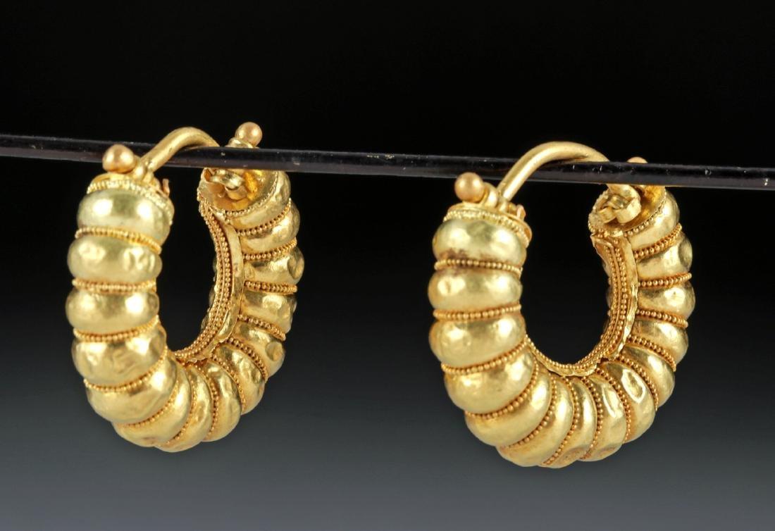 Mediterranean 20K Gold Earrings - 5.5 g - ex-Christie's