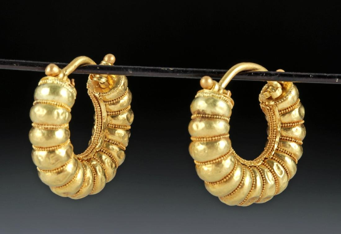 Mediterranean 20K Gold Earrings - 5.5 g - ex-Christie's