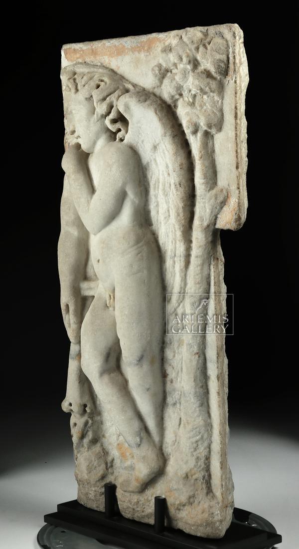 Roman Marble Sarcophagus Relief of Cherub - 3