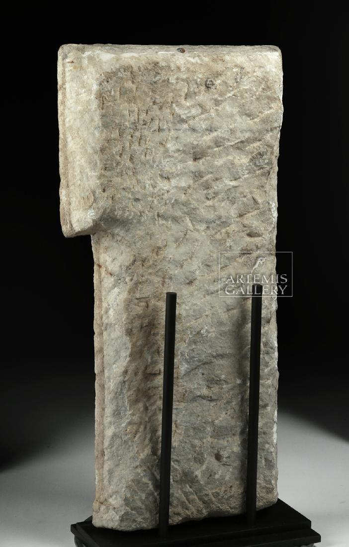 Roman Marble Sarcophagus Relief of Cherub - 4