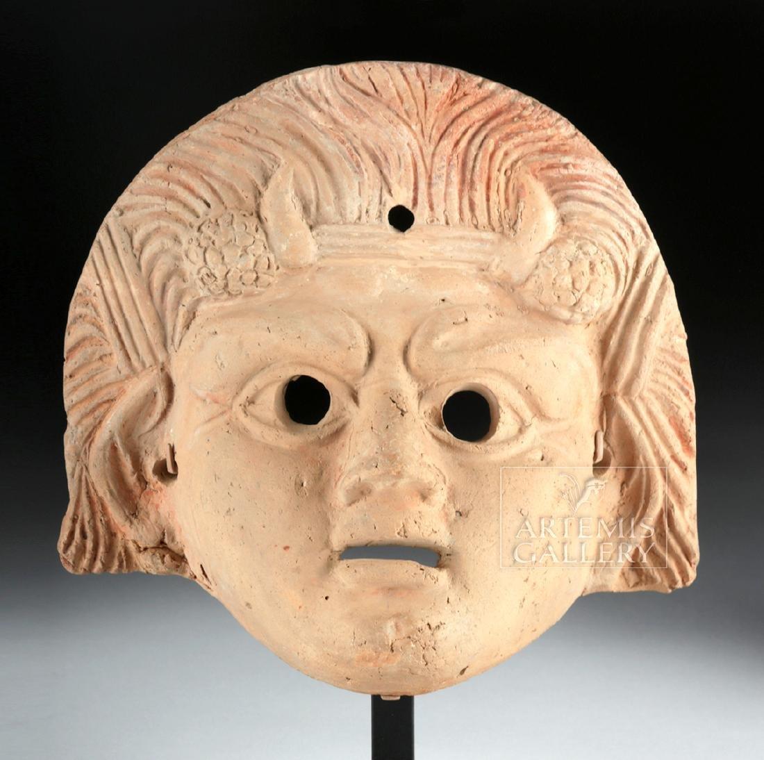 Roman Terracotta Actor's Mask w/ TL