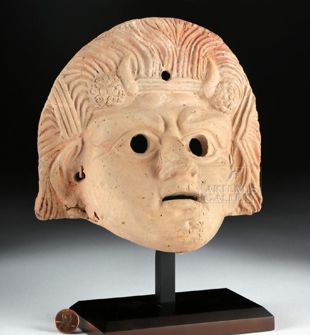 Roman Terracotta Actor's Mask w/ TL - 2
