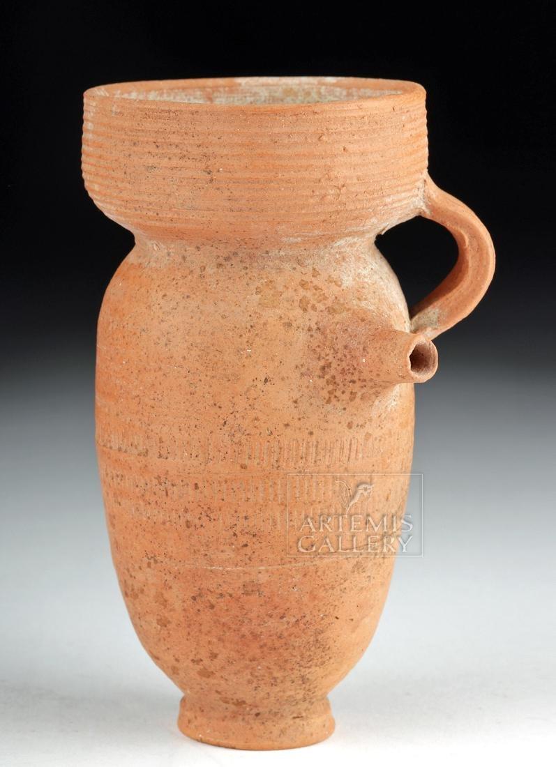 Roman Redware Spouted Strainer Vessel
