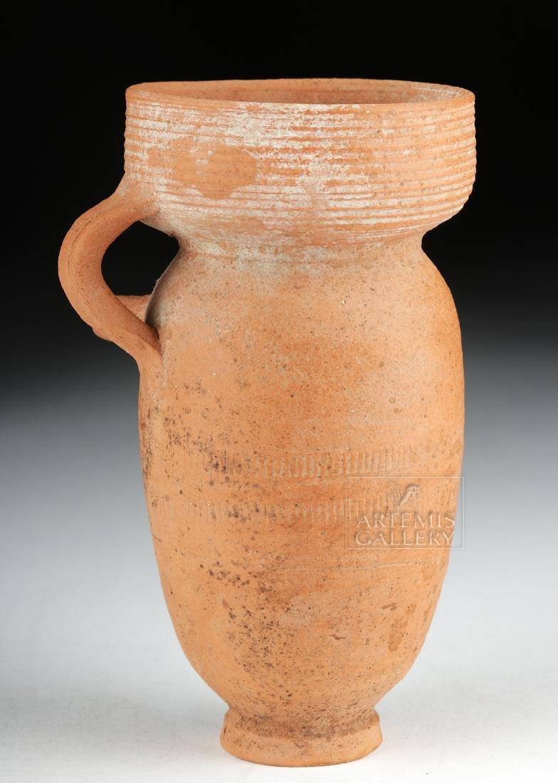 Roman Redware Spouted Strainer Vessel - 3