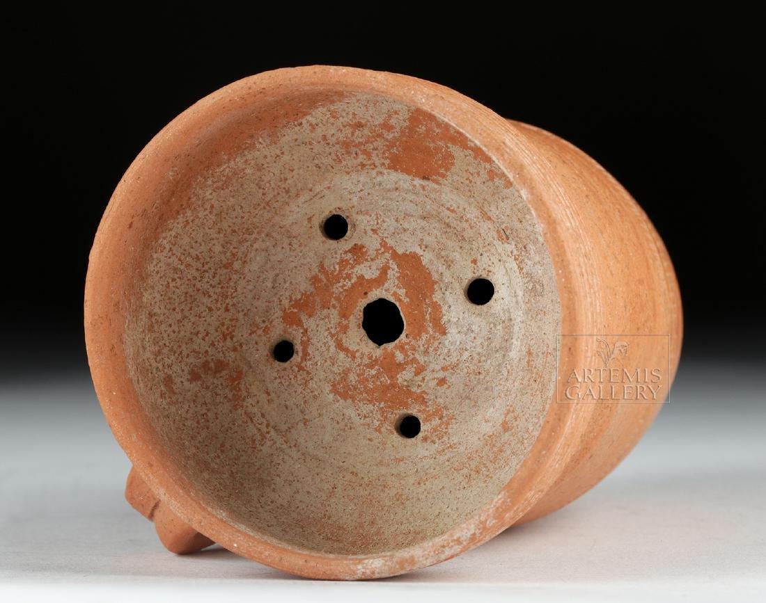 Roman Redware Spouted Strainer Vessel - 5
