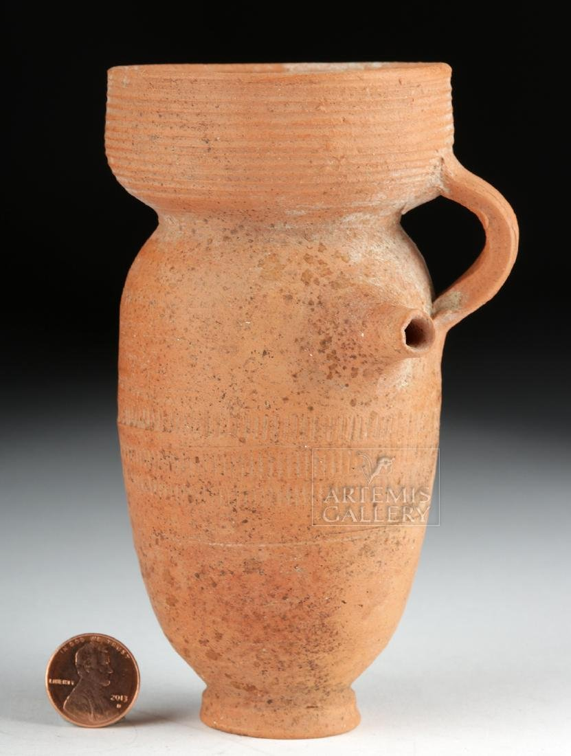 Roman Redware Spouted Strainer Vessel - 7
