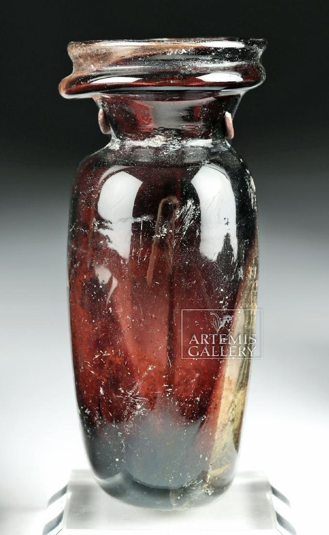 Roman Glass Vessel - Beautiful Aubergine