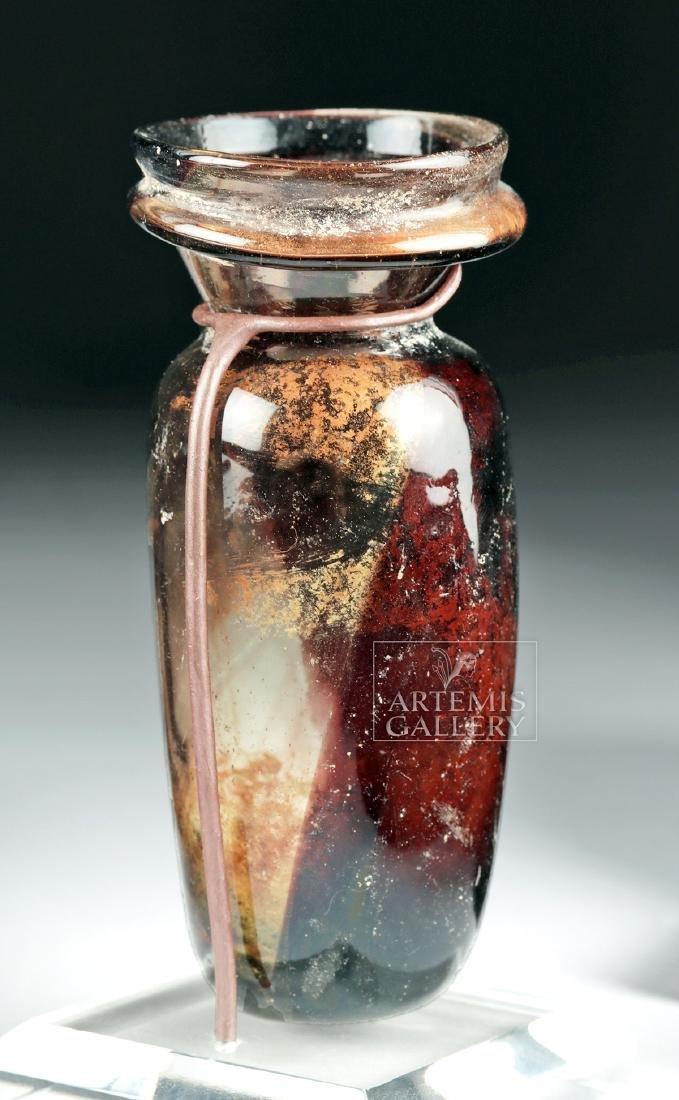 Roman Glass Vessel - Beautiful Aubergine - 5