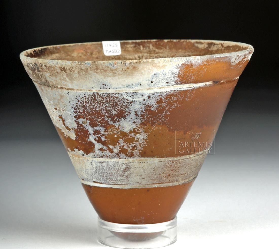 Late Roman Glass Lamp - Gorgeous Iridescence! - 2