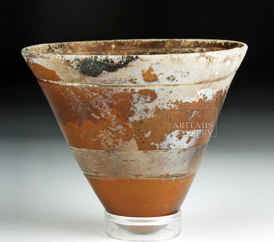 Late Roman Glass Lamp - Gorgeous Iridescence! - 3