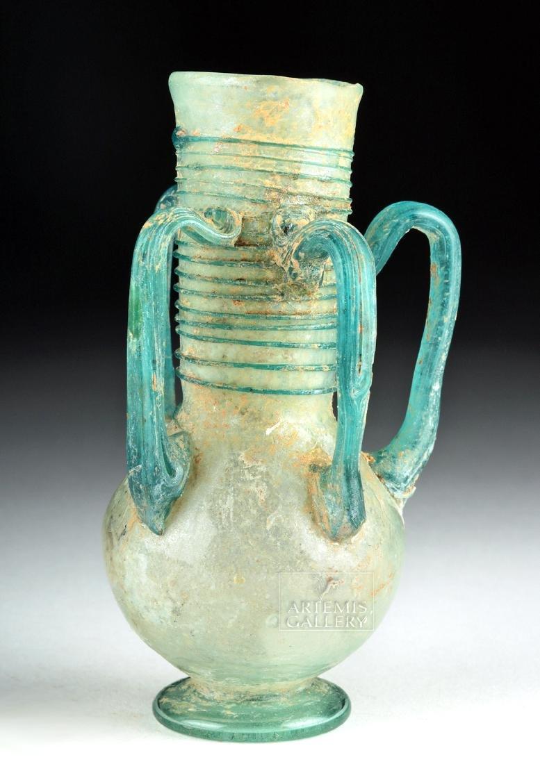 Roman / Byzantine Glass Flask w/ Four Handles - 4