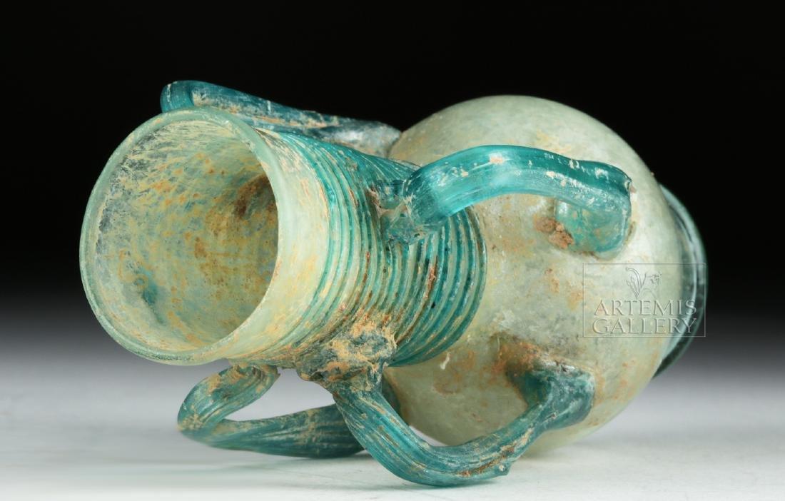 Roman / Byzantine Glass Flask w/ Four Handles - 7